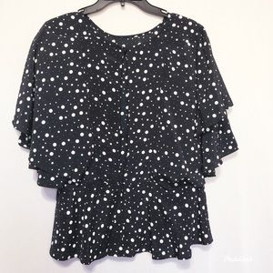 Top shop polka dolts top. Sz 12 with open back.